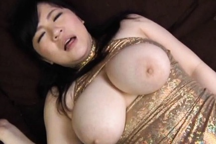 Mikoto yatsuka has huge tits squeezed while she jumps on penish. Mikoto Yatsuka has huge boobs squeezed while she jumps on cock