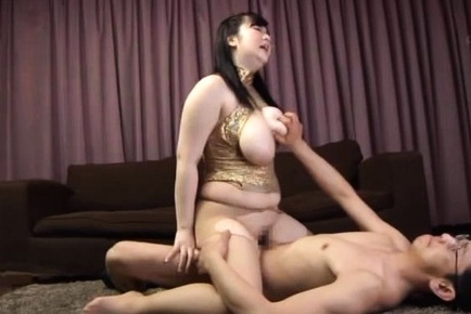 Mikoto yatsuka has huge tits squeezed while she jumps on dick. Mikoto Yatsuka has huge breasts squeezed while she jumps on dick